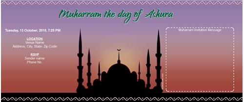 Muharram the day of Ashura