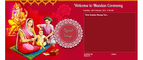 Please join us for a Mundan Ceremony