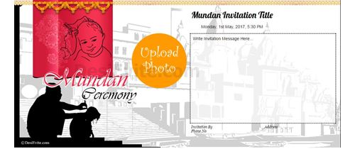 Mundan Ceremony Invitation Cards