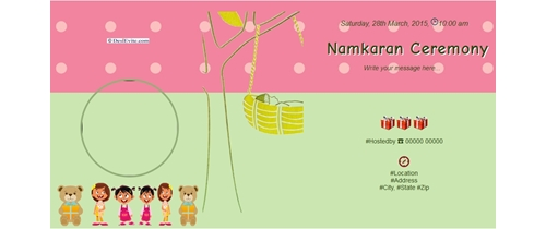 Free naming ceremony namakaran invitation card online invitations invitation with image baby girl naming ceremony invitation stopboris