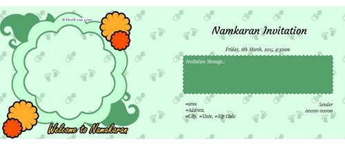 Namkaran Ceremony Invitation