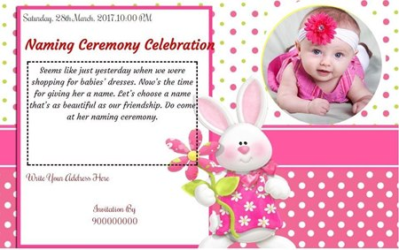 Free Naming Ceremony Namakaran Invitation Card Online Invitations