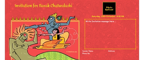 celebrate Narakchturdashi