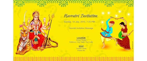 Navratri Dandiya Festival Invitation