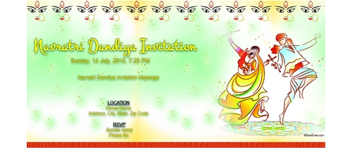Navratri Dandiya Invitation