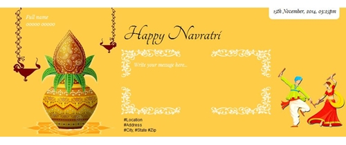 Invitation for auspicious occasion of Navratri.