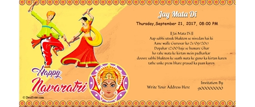 Celebration of Navratri