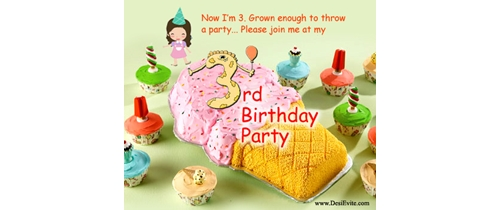Now i am 3 grown enough to throw a party