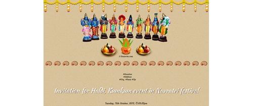 Haldi, Kumkum event in Navratri festival
