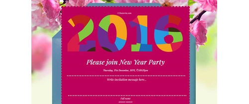 New year party for 2016