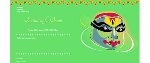 Invitation for Onam