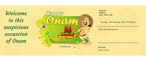 Onam - Festival of peace and happiness