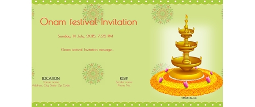 Onam Festival Invitation