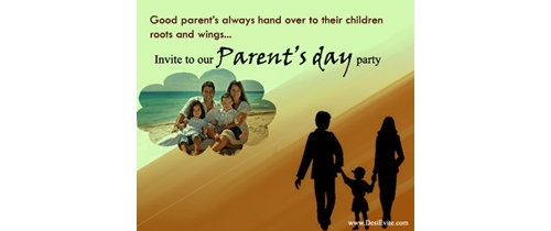 Invite to our Parents Day party