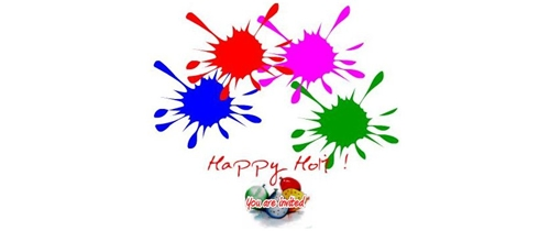 Please come and enjoy Holi with colors