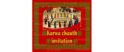 Come my dear friends it's time to celebrate Karwa Chauth