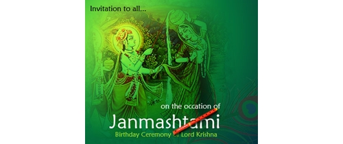 On the occession of Janmashtami pleaae join us