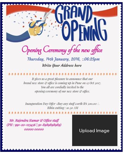 opening ceremony invitation template