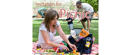 Picnic is all about nice food, games and fun.