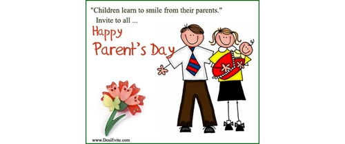 Childrens learn to smile  from thair Parents invite to all