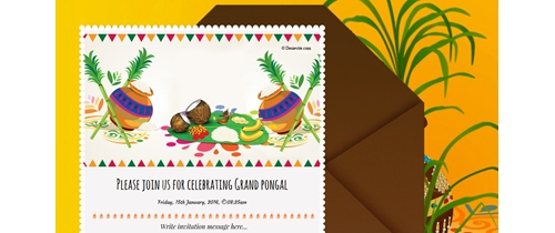 Pongal festival Invitation