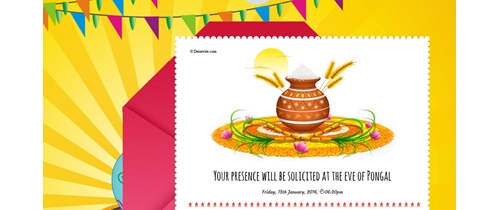 Welcome the harvest Pongal festival