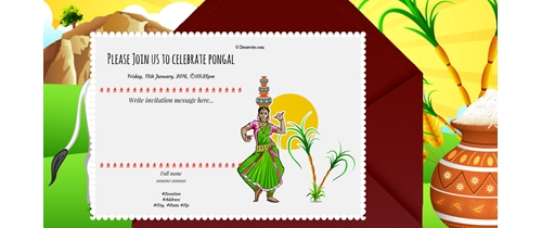 Free online Pongal Invitation