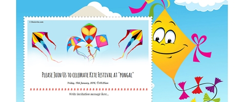 Celebrating Kite festival at Pongal