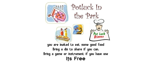 Potluck in the park Invitation