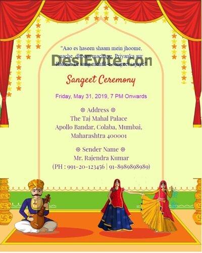 rajasthani-style-sangeet-card
