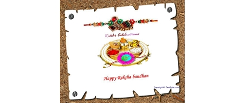 Please come my brother and let's celebrate Rakhi