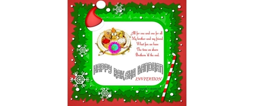 Send Rakhi Invitation to your sister and brother