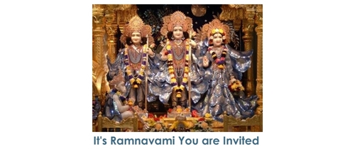 It's Shree Ramnavami  pleae come and join the puja