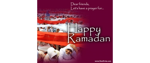 Let's have a prayer  for Ramadan