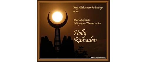 Let's go for Namaz on the Holly Ramadan