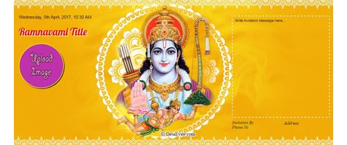 The Divine Blessing Of Lord Ram Happy Ram Navami.