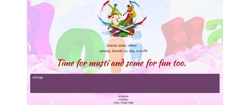 Rango ka Tewhar Holi Invitation