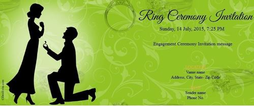 Free Online Engagement Invitation – Create Engagement Invitation Card Online Free
