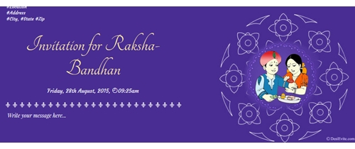 Invitation for Raksha Bandhan