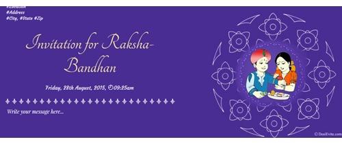 Invitation for Raksha Bandhan