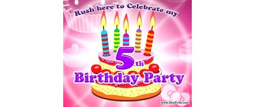 Rush here to celebrate my 5th Birthday