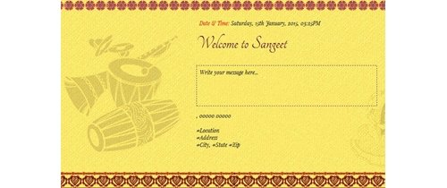 Welcome to Sangeet Ceremony Invitation