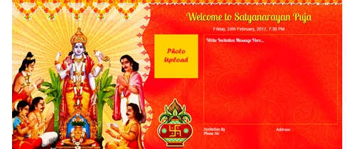 Invitation for Satyanarayan puja