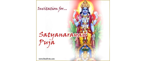Sri Satyanarayan Puja Invitation