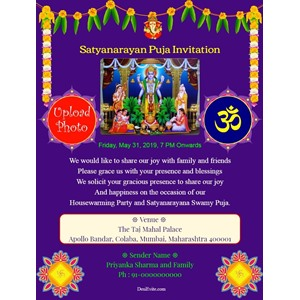 satyanarayan-puja-invitation-card-with-photo-rangoli