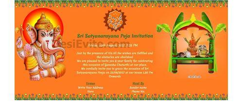 satyanarayan and Ganesh Chaturthi