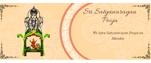 Satyanarayan Puja Facebook RSVP Event Cover Photo