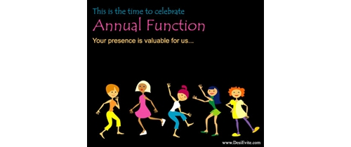 this is the time to celebrate Annual Function