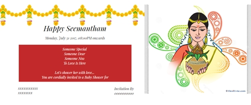Valaikappu Seemantham Invitation