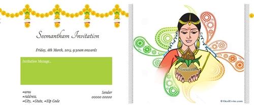 Seemantham Invitation